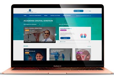 Artigo - Academia Digital Einstein oferece acervo de qualidade produzido na Instituição